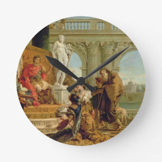 Maecenas Presenting the Liberal Arts to the Empero Round Clock