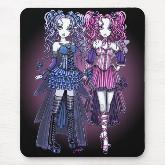 Maegan & Haylee Gothic Couture Fairies Mousepad