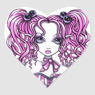 """""""Maegan"""" Pink Couture Fairy Heart Stickers"""