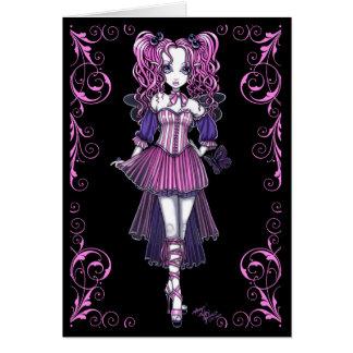 """Maegan"" Pink Valentine Fairy Art Card"