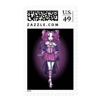 """""""Maegan"""" Pink Valentine Fairy Art Postage"""