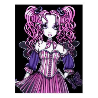 """Maegan"" Pink Valentine Fairy Art Postcard"