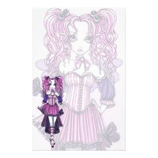 """Maegan"" Pink Valentine Fairy Art Stationery"