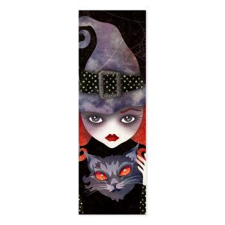Maelba, la mini señal de la bruja roja tarjetas de visita mini