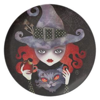 Maelba, la placa roja de la bruja platos