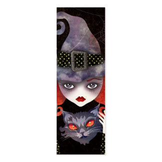 Maelba, the Red Witch Mini Bookmark Double-Sided Mini Business Cards (Pack Of 20)