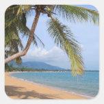 Maenam beach. square stickers