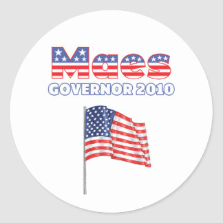 Maes Patriotic American Flag 2010 Elections Round Stickers