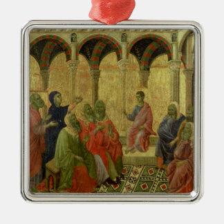 Maesta: Christ Among the Doctors, 1308-11 Metal Ornament