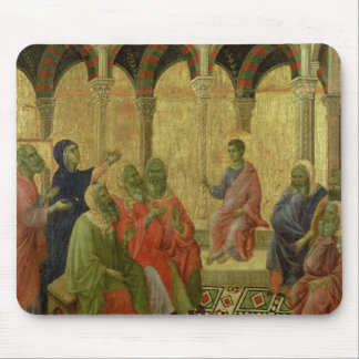 Maesta: Christ Among the Doctors, 1308-11 Mouse Pad