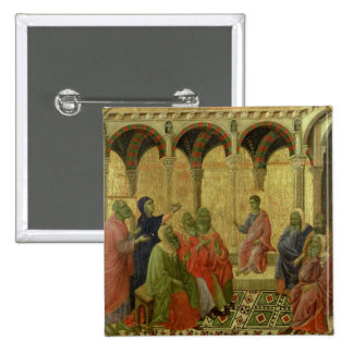Maesta: Christ Among the Doctors, 1308-11 Pinback Button