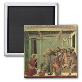 Maesta: Christ Washing the Disciples' Feet 2 Inch Square Magnet
