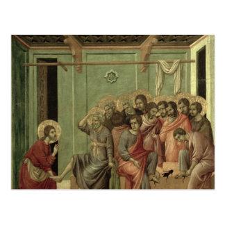 Maesta: Christ Washing the Disciples' Feet Postcard