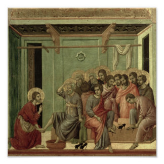 Maesta: Christ Washing the Disciples' Feet Poster