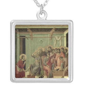 Maesta: Christ Washing the Disciples' Feet Silver Plated Necklace