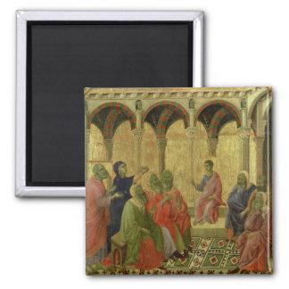 Maesta: Cristo entre los doctores, 1308-11 Imán Cuadrado