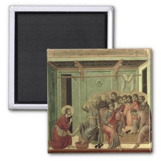Maesta: Cristo que lava los pies de los discípulos Imán Cuadrado