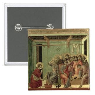 Maesta: Cristo que lava los pies de los discípulos Pin Cuadrado