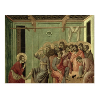 Maesta: Cristo que lava los pies de los discípulos Postal