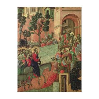 Maesta: Entry into Jerusalem, 1308-11 Canvas Print
