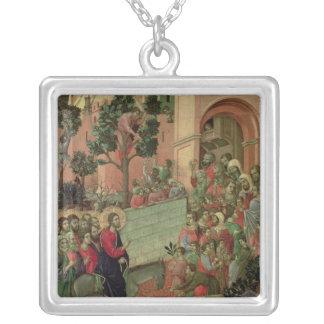 Maesta: Entry into Jerusalem, 1308-11 Silver Plated Necklace