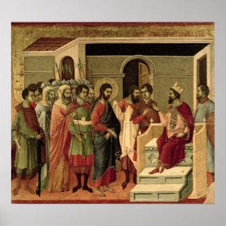 Maesta: Jesus before Herod, 1308-11 Poster