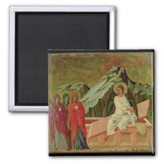 Maesta: Los tres Maries en la tumba de Cristo Imán Cuadrado