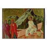 Maesta: Los tres Maries en la tumba de Cristo Tarjeta De Felicitación