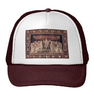 Maestà Madonna Enthroned As The Patron Saint Surro Mesh Hat