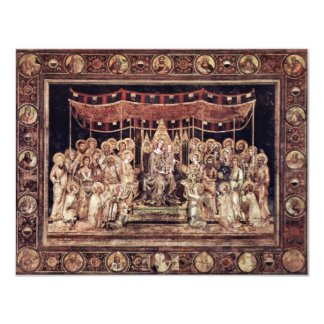 Maestà Madonna Enthroned As The Patron Saint Surro Invite