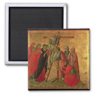 Maesta: Pendiente de la cruz, 1308-11 Imán Cuadrado