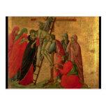 Maesta: Pendiente de la cruz, 1308-11 Tarjetas Postales