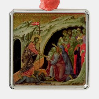 Maesta: Pendiente en el limbo, 1308-11 Adorno Navideño Cuadrado De Metal