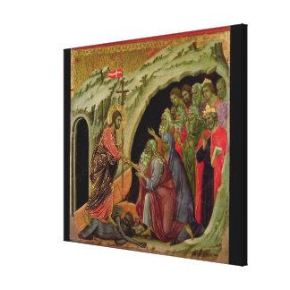 Maesta: Pendiente en el limbo, 1308-11 Impresiones En Lona Estiradas