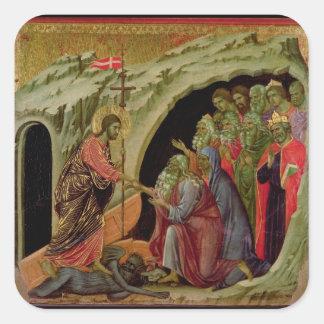 Maesta: Pendiente en el limbo, 1308-11 Pegatina Cuadrada