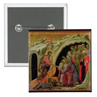 Maesta: Pendiente en el limbo, 1308-11 Pin Cuadrada 5 Cm