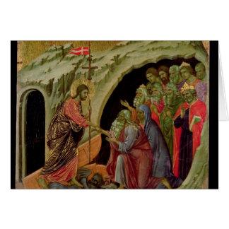 Maesta: Pendiente en el limbo, 1308-11 Tarjeta De Felicitación