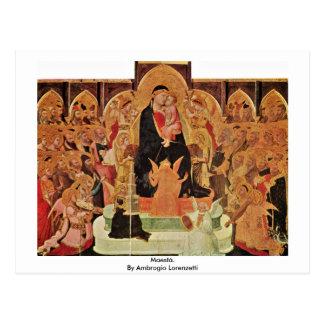 Maestà. Por Ambrogio Lorenzetti Postales