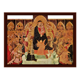 Maestà. Por Ambrogio Lorenzetti Postal