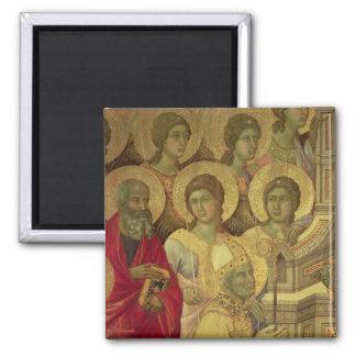 Maesta: Santos, 1308-11 Imán Cuadrado
