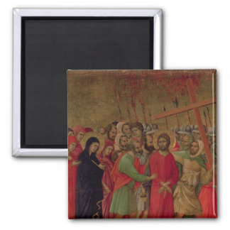 Maesta: The Road to Calvary, 1308-11 2 Inch Square Magnet