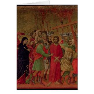 Maesta: The Road to Calvary, 1308-11 Card