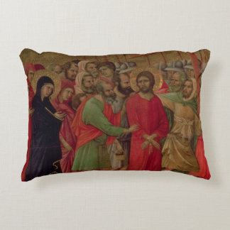Maesta: The Road to Calvary, 1308-11 Decorative Pillow