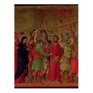 Maesta: The Road to Calvary, 1308-11 Postcard