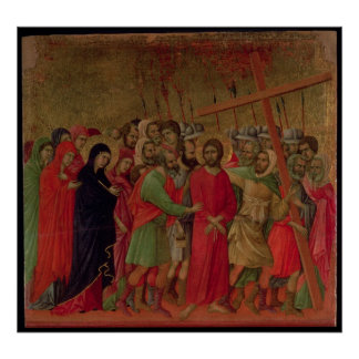 Maesta: The Road to Calvary, 1308-11 Poster