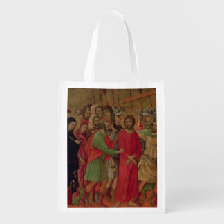 Maesta: The Road to Calvary, 1308-11 Reusable Grocery Bag