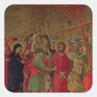 Maesta: The Road to Calvary, 1308-11 Square Sticker