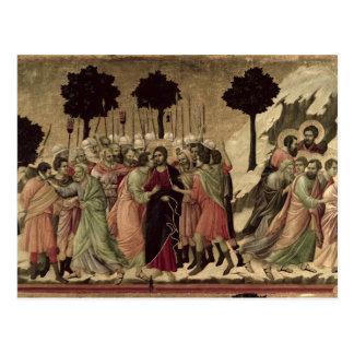 Maesta: Traición de Cristo, 1308-11 Postal