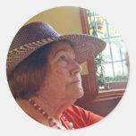 Maestra de Baile Classic Round Sticker