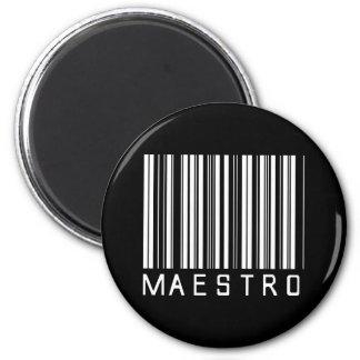 Maestro Bar Code Magnet